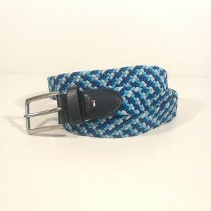 Tommy Hilfiger blue webbed 40/100 belt